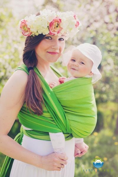 Little FROG Tkaný šatka na nosenie detí - BERYL, XL