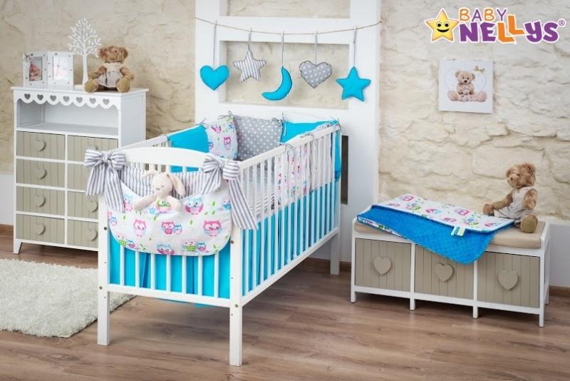 Baby Nellys Mega sada Be LOVE - Modrá / sivá - sovička