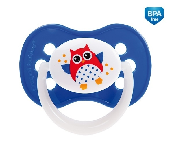 Cumlík Canpol Babies 6-18m - Malá sova modrá