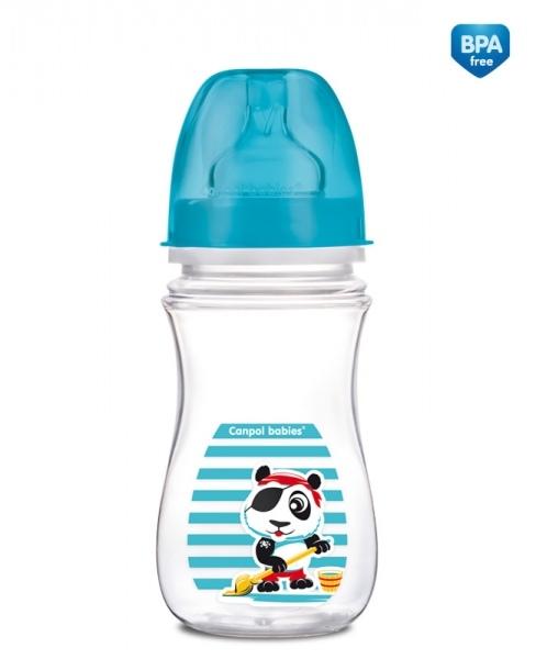 Antikoliková fľaštička 240ml Canpol Babies - PANDA