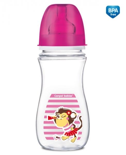 Antikoliková fľaštička 300ml Canpol Babies - opička