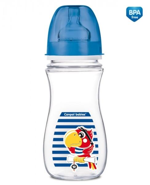 Antikoliková fľaštička 300ml Canpol Babies - PAPAGÁJ