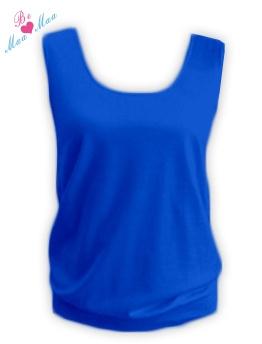 Tehotenský top LADA - tm. modrý
