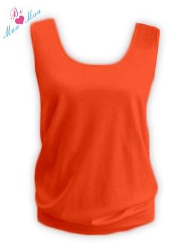 Tehotenský topLADA - oranžový