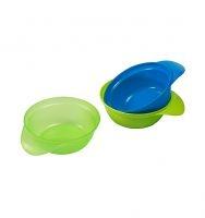 Plastové mištičky Baby ONO - zelenej, modrej 3ks