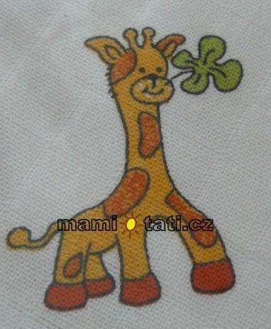 Detská plienková osuška - žirafka 1ks