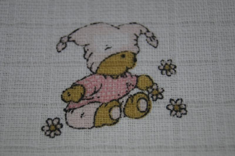 Detská plienková osuška - Kašpárek ružový - 1ks