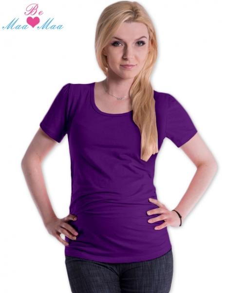Tehotenské tričko JOLY bavlna - fialové