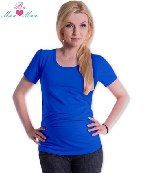 Tehotenské tričko JOLY bavlna - tm.modré