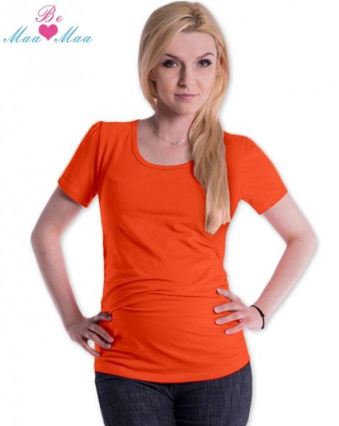 Be MaaMaa Tričko JOLY bavlna nielen pre tehotné - pomarančovej