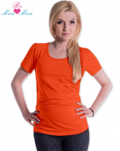 Tehotenské tričko JOLY bavlna - pomerančové