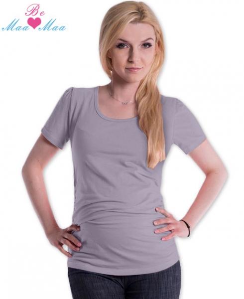 Tričko JOLY bavlna nielen pre tehotné - šedé