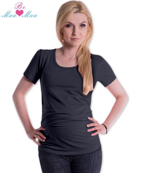 Tehotenské tričko JOLY bavlna - grafitové