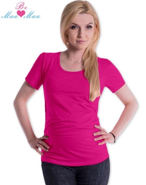 Tehotenské tričko JOLY bavlna - sýto ružové