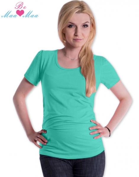 Tehotenské tričko JOLY bavlna - mätové