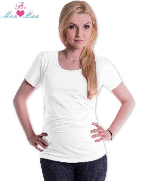 Tehotenské tričko JOLY bavlna - biele