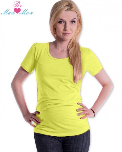 Tehotenské tričko JOLY bavlna - žlté