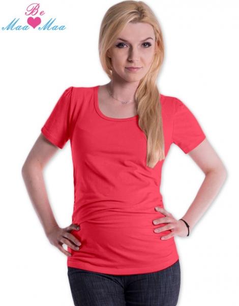 Tehotenské tričko JOLY bavlna - korálové