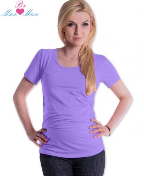 Tehotenské tričko JOLY bavlna - lila/šeríkové
