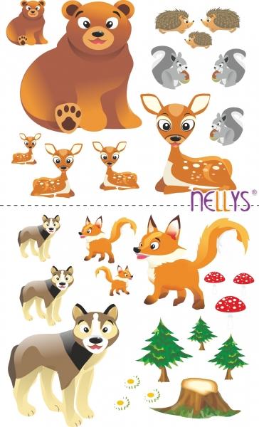 Nástenná dekorácia - Zvieratka z lesa