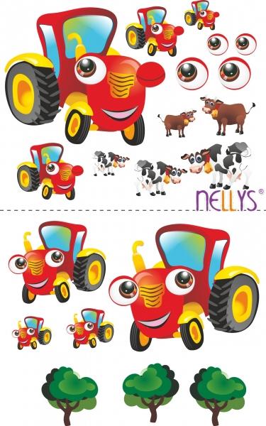 Nástenná dekorácia - Traktor