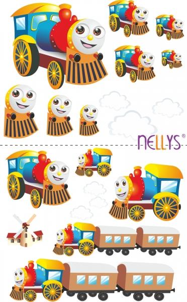 Nástenná dekorácia - Veselá lokomotíva
