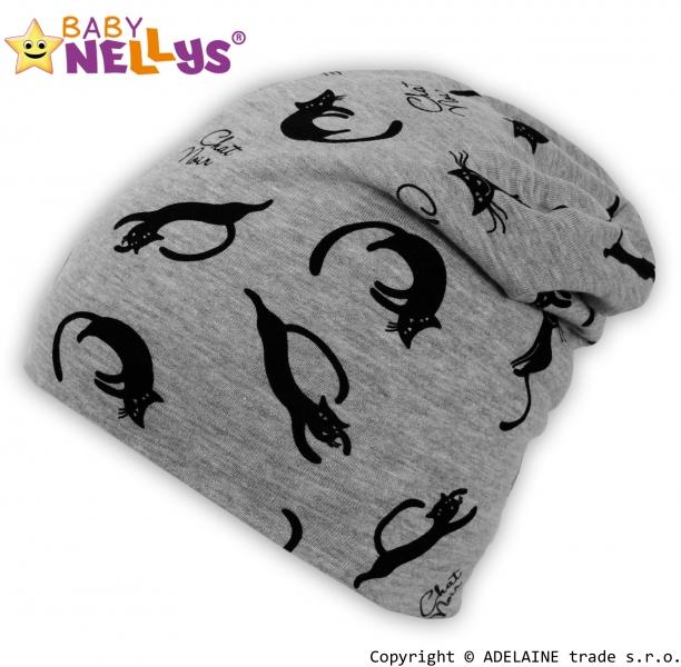 Bavlnená čiapočka Baby Nellys ® - Mačičky