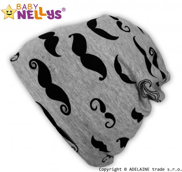 Bavlnená čiapočka Baby Nellys ® - Fúziky