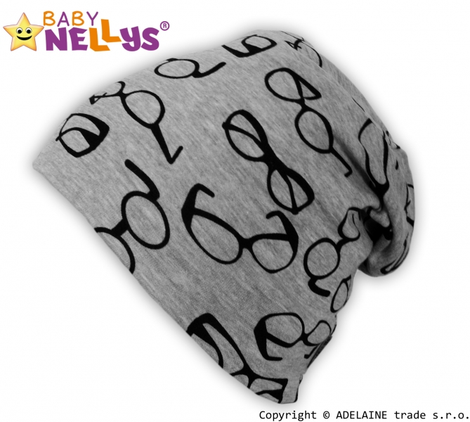 Bavlnená čiapočka Baby Nellys ® - Okuliare, veľ. 51-54 cm