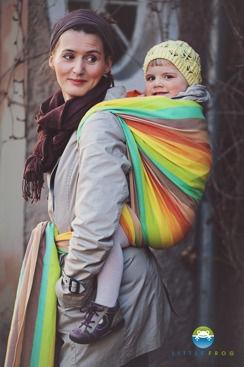 Little FROG Tkaný šatka na nosenie detí - Sunny Labradorite veľ. M - 4,2m
