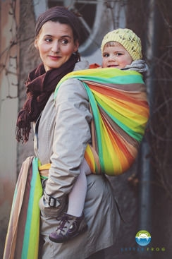 Little FROG Tkaný šatka na nosenie detí - Sunny Labradorite veľ. XL - 5,2m