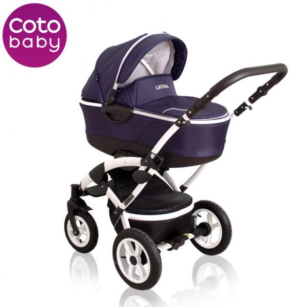 Kočík LATINA Coto Baby 2v1 - dark blue