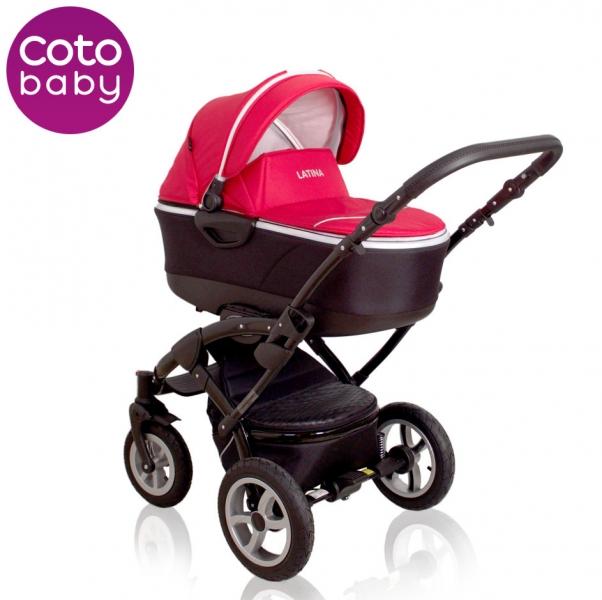 Kočík LATINA Coto Baby 2v1 - red / červený