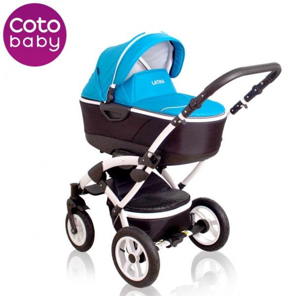 Kočík LATINA Coto Baby 2v1 - blue / modrý
