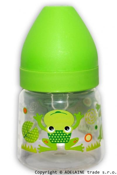 Fľaštička Akuku 125ml - zelená sa žabkou