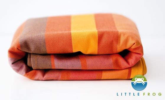Little FROG Tkaný šatka na nosenie detí - Rhodonite veľ. M - 4,2m