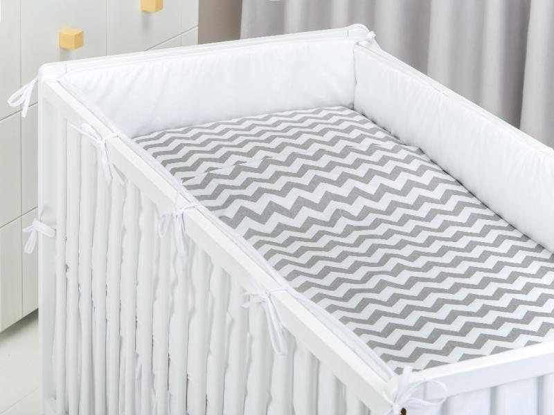 Bavlnené obliečky - Zigzag Šedý-135x100