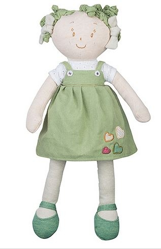 Látková bábika EKO Lily Baby Ono - zelená / khaki