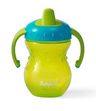 Náučný hrnček Baby Ono, 9m + - zelený / tyrkys