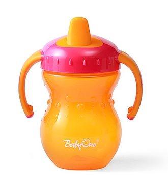 Náučný hrnček Baby Ono, 9m + - oranžový / ružový