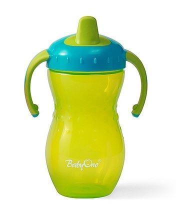 Náučný hrnček Baby Ono, 12m + - zelený / tyrkysový