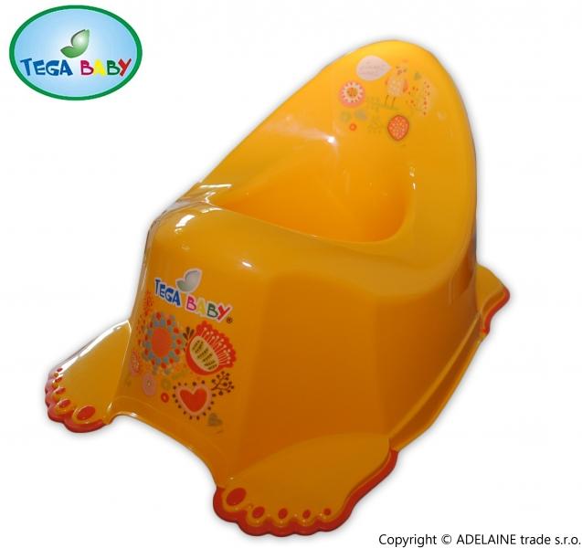 Nočník TEGA BABY - folk žltá, s labkami