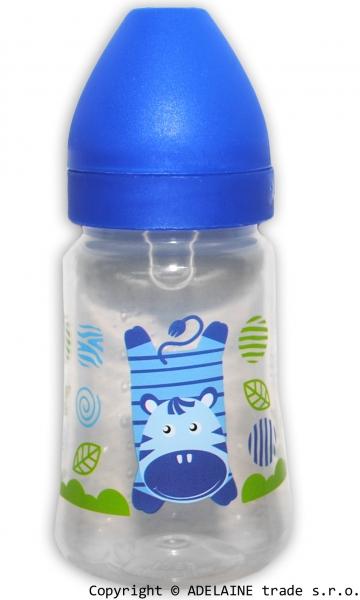 Fľaštička Akuku 125ml - modrá zebra