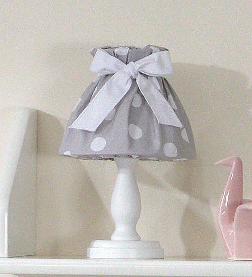 Nočná lampička - retro sivé