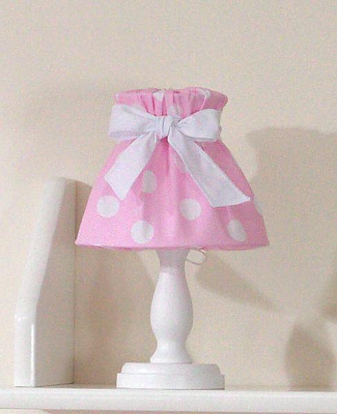 Nočná lampička - retro ružové