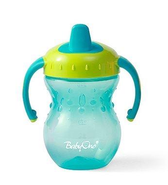 Náučný hrnček Baby Ono, 6m + - tyrkysový / zelený