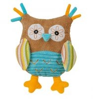 Edukačná plyšová hračka s hrkálkou Baby Ono - Malá sova hnedá - CHLAPEC