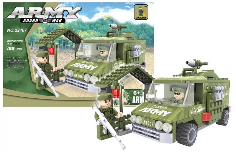 Stavebnica Ausin auto vojenské, 166 dielov