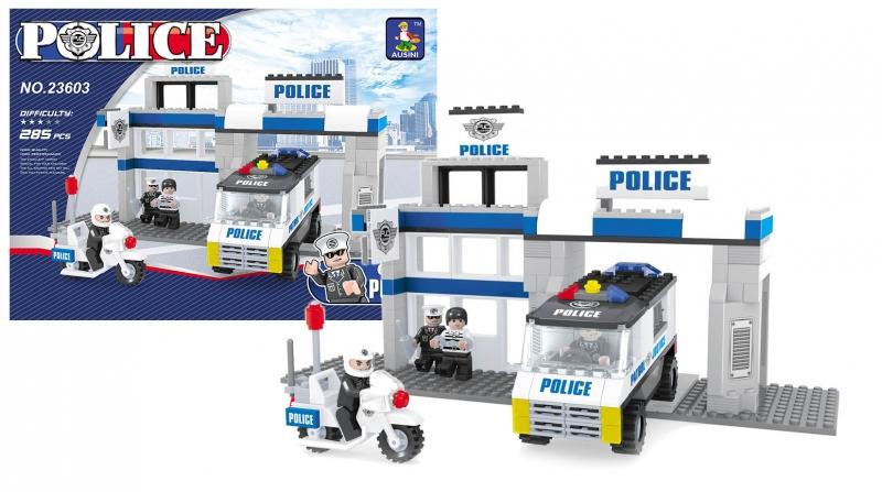 Stavebnica Ausin policajné stanice, 286 dielov