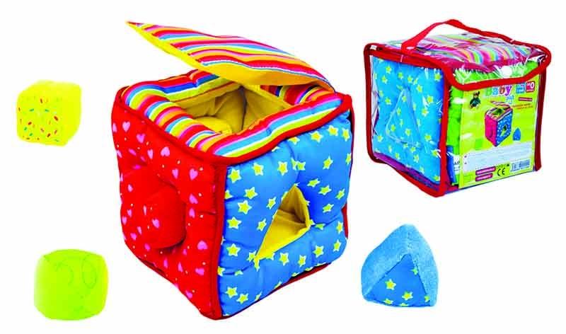 Vkladačka kocka baby látková